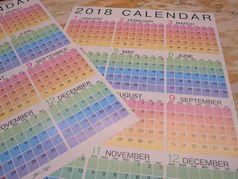 2018年度版 ファースト オリジナルカレンダー